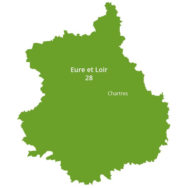 Zone d'intervention - Eure et Loir - Prestatairenergie
