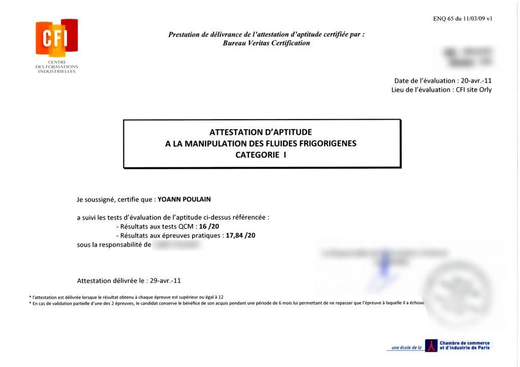 Qualifications - Aptitude fluides - Prestatairenergie
